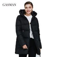 Benzin Pembe Moda Sıcak kadın Kış Ceketler Yeni Kadın Kapşonlu Aşağı Parka Dış Giyim Coat Kadın Kirpi Ceket Artı Boyutu 011 210204
