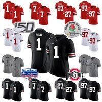 Ohio State Buckeyes Football Jerseys 1 Justin Champs 2 Chase Jeune 7 Dwayne Haskins Jr. 27 Eddie George 97 Nick Bosa 15 Elliott Fiesta Bowl
