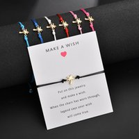 صداقة سوار بطاقة هدية -make أمنية الذهب لهجة سبيكة شجرة جوز الهند سوار مجوهرات سحر سوار للفتيات إمرأة الاطفال