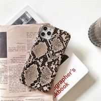 Für iphone 12 Mini 11 Pro Xs MAX XR X 8 und SE-Hüllen Python-Schlangen-Haut-Beschaffenheit Telefon-Kasten für iphone 8 7 Plus-Luxuxabdeckungs