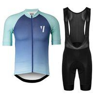 2020 고품질 2020 공허 프로 팀 남성 자전거 의류 여름 통기성 사이클링 저지 턱받이 팬티 세트 산악 자전거 스포츠 착용 Y03080
