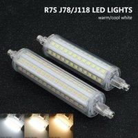 78mm 118mm R7S LED COB 전구 5W 12W 16W 홍수 전구 화이트 램프 110V 220V 유리 튜브 작업등