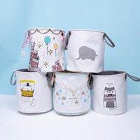 Vêtements sales Panier Ins panneaux de rangement des enfants Jouets Jouets Bacs Bucket Vêtements Organisateur Sac à linge Sacs Sacs Toiles LXL1218
