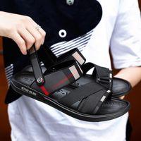 Luxe Cuir Erkekler 39 S Sandalet Deri Erkek Yaz 2020 Yeni Plaj Roma Rahat Moda Siyah Sandale Homme Sandalias Hombre1