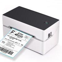 2021 Mini impresora de etiqueta térmica para adhesivos Impresión de pegatinas con interfaz USB Bluetooth de alta calidad 40-80 mm de papel