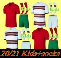 2020 Kid Kit Soccer Jerseys Joao Felix Home Away Toy Boys قميص كرة القدم 20 21 البرتغال Guedes مجموعات الأطفال Camisa de Futbol