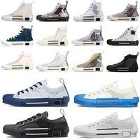 2021 B23 Tasarımcı Sneakers Obliques Teknik Deri Yüksek Düşük Çiçekler Platformu Açık Rahat Ayakkabılar Vintage Boyutu 36-45 # BNM