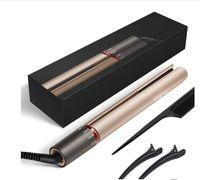 Straightener de cabelo profissional 2 em 1 endireitamento e ondulação de enrolador de ferro liso irons placa de cerâmica estilos de ferro iônico