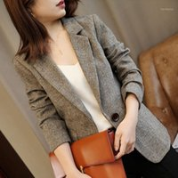 Fashion Coat Female High Quality Genuine Wool Blazer Spring ...