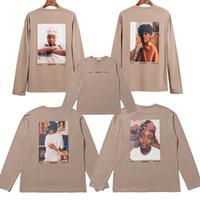 FG Fear Of God FOG impresión de caracteres alrededor del cuello de manga larga de gran tamaño camiseta de diseñador de ropa de lujo otoño invierno sudadera