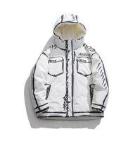 Einzigartige Herren Gepolsterte Jacke insgesamt Streetwear Womens Fashion Hip Hop 3D-Hemd gedruckt warme volle Zip-Mantel Casual Tops dicke Outwear