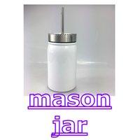 17 Unzen Sublimation Mason Glas mit Stroh Edelstahl Wasser Flaschen Tragbare doppelt isolierte Tassen Vakuum Kaffeetassen Getränke Cup A13 VLFU