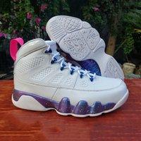 Bel Bianco Bianco JBC9 Scarpe da uomo High Carino Fashion Pink Multi Color 9s Mens Trainer all'aperto Sneakers sportivi EUR40-47