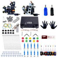 Complete kit de tatouage bobine machine de tatouage Set d'alimentation Aiguilles Machine professionnelle Kit pour débutants Starter