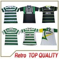 Celtic Retro 91 Soccer Jerseys Home 96 95 97 99 Camicie da calcio Larsson Sutton Nakamura Keane Black Sutton 01 10 85 87 94