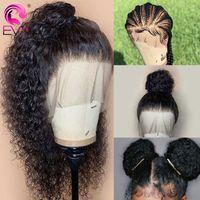 Parrucche precipitate dei capelli umani del pizzo pieno con i capelli del bambino Parrucche dei capelli umani ricci brasiliani per le donne 360 parrucca frontale del merletto precipitato