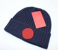 رجل الخريف فصل الشتاء قبعة صغيرة القبعات بارد أزياء المرأة الحياكة قبعة دافئة للجنسين قبعة الكلاسيكية العلامة التجارية محبوك قبعة سوداء 5 ألوان انخفاض الشحن