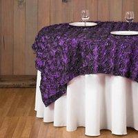 الجدول القماش الأزياء روز الدانتيل التطريز جولة سماط أبيض غطاء التلفزيون تورك العلم الزفاف الديكور