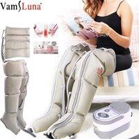Elettrico Compressione Aria Leg Massaggiatore Aria Boot avvolge le caviglie Vitello macchina di massaggio di promuovere la circolazione del sangue Alleviare il dolore fatica