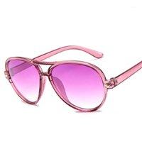 Óculos de sol Fahsion espelho crianças crianças gradiente colorido rosa uv400 meninas meninos bebê sol óculos oculos masculino1