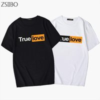 Couple t shirt Letters Modis print trend T shirt men and wom...