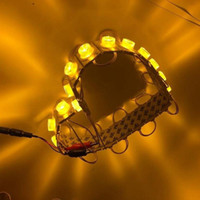 1.5W LED 모듈 주입 렌즈 3030 슈퍼 밝은 광고 빛 IP65 방수 기호 백라이트