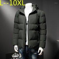 재킷 10xl 8XL 6xl 새로운 슬림 두꺼운 따뜻한 최고 품질의 방풍 지퍼 옷 남성 패션 겨울 코트 man1