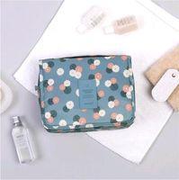 Pendurado multifuncional impermeável saco cosmético flor impressão maquiagem bolsa de viagem moda fashion mulheres bolsas de armazenamento wq462