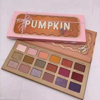 Nuovo Arrivo Pumpkin 18 Colori Eyeshadow Shimmer Matte Natale 18 collore ombretto tavolozza DHL spedizione gratuita