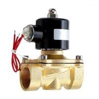 1/2 3/4 1 인치 12V 전기 솔레노이드 밸브 공기 가스 용 공기 밸브 황동 공기 밸브 1