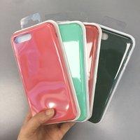 Cobertura completa Líquido Oficial Gel de silicone sólido caso capa para o iPhone 11 11 Pro 11 PRO MAX XR XS Max 6 6S 7 8 PLUS 250PCS / pacote de varejo LOT