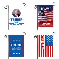 Garten Banner 2020 Trump Wahl Flag Terylene Flags Oblong Auffällige uns Kampagne Zuhause-Party Dekorieren Hot Sale 5 5mxa D2