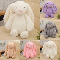 30cm 12inch 보니 토끼 토끼 박제 봉제 장난감 큰 긴 귀 토끼 봉제 인형 어린이를위한 솔리드 동물 파티 생일 아이 선물