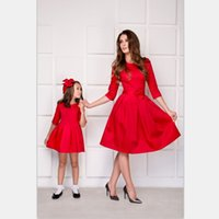 2020 Mother And Daughter Christmas Dresses for Party New Year Clothes Formal Matching Family Outfits