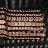 Vinterly Manyetik Bilezik Erkekler Saf Bakır Enerji Sağlık Bilezik Erkek Zincir Bağlantı Vintage Manyetik Bakır Bilezik Bilezikler LJ200918