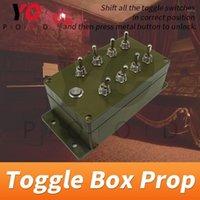 Fingerprint Access Control Toggle Box Prop Real Life Escape Room Girare tutti gli switch nelle indicazioni a destra per sbloccare il gioco Takagism YOTOOD1