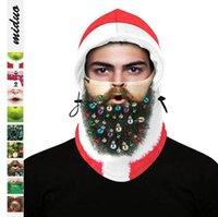 Maschera di natale Stampa digitale Maschere per il viso Inverno Sci da esterno Cappuccio caldo Cappuccio Regolabile Copricapo di Natale Decorazione di natale YL1087