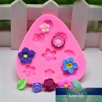미니 꽃 케이크 실리콘 금형 퐁당 장식 도구 초콜릿 Gumpaste 퐁당 도구 DIY 비누 금형