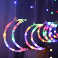 LED 문자열 조명 3.5m 달 커튼 요정 빛 가족 휴가 크리스마스 트리 장식 화환 장식품