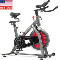 US Stock Intérieur exercice Cyclisme vélo réglable Moniteur LCD fixe avec capteur de pouls pour Home Cardio Workout Belt Drive
