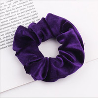 46Colors Korea Velvet Haar Scrunchie elastische Haar-Bänder Solid Color Frauen-Mädchen-Kopfbedeckung Pferdeschwanz-Halter-Haar-Zusätze