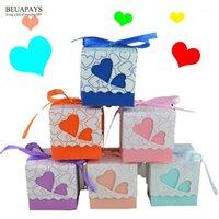 Hediye Paketi 100 adet Hollow Çift Aşk Mutlu Şeker Kutusu Düğün Kişilik Bebek Duş Doğum Günü DIY Aksesuarları Parti Deco1 Şekeri