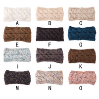 New 22Colors Hairband Colorful Knitted Crochet Twist Headband Winter Ear Warmer Elastic Hair Band Wide Hair Accessories Free DHL