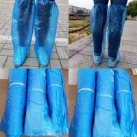 Couvre-chaussures jetables Épaississement anti-poussière anti-dérapable couverture de pied transparent confortable Couvre-dessus de plastique léger