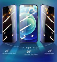 Protetores de tela de telefone celular Película de privacidade Aplicar a iPhones 12 11 xsmax anti-riscos 28 graus de alta transparência 7 8 Membrana de vidro full tostado