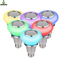 Bluetooth لمبة الضوء المتكلم مضاعفة RGB Smart LED لمبات تطبيق مشغل موسيقى متزامن أو جهاز التحكم عن بعد E27