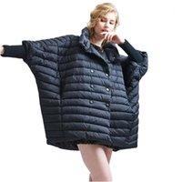 EVA Freedom Зима Новый стильный женский плащ вниз пальто женская мода светло-пуховик свободный большой размер куртки EF36181