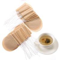 100 PCS / LOT 차 필터 백 커피 도구 드립 봉투 일회용 강한 침투 자연 표백제 된 나무 펄프 용지