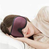 3D النوم قناع حجب ضوء مبطن لينة قناع النوم للظل العيون Slaapmasker العين الغمامة النوم قناع الوجه Eyepatch10