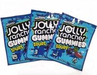 Hisse Senedi Hazır Gönderim Hazır Olabilir Sakızlı Şeker Gıda Paketleme Çantası İlaçlı Jolly Rancher Gummies Ekşi 3.5g Mylar Çanta